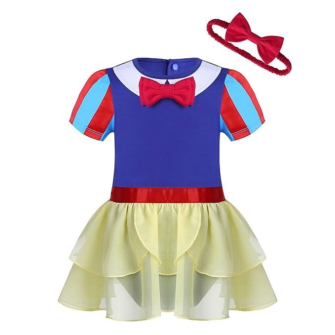 YiZYiF Pelele Bebé con Tutú Falda Vestido de Princesa Disfraz de Bebé niña Pequeña 0-24Meses: Amazon.es: Ropa y accesorios