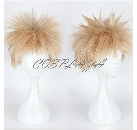 Cosplaza Cosplay Wig Short Lt Blonde Boy Anime Hair Synthetic Wigs Amazon Com Au Beauty