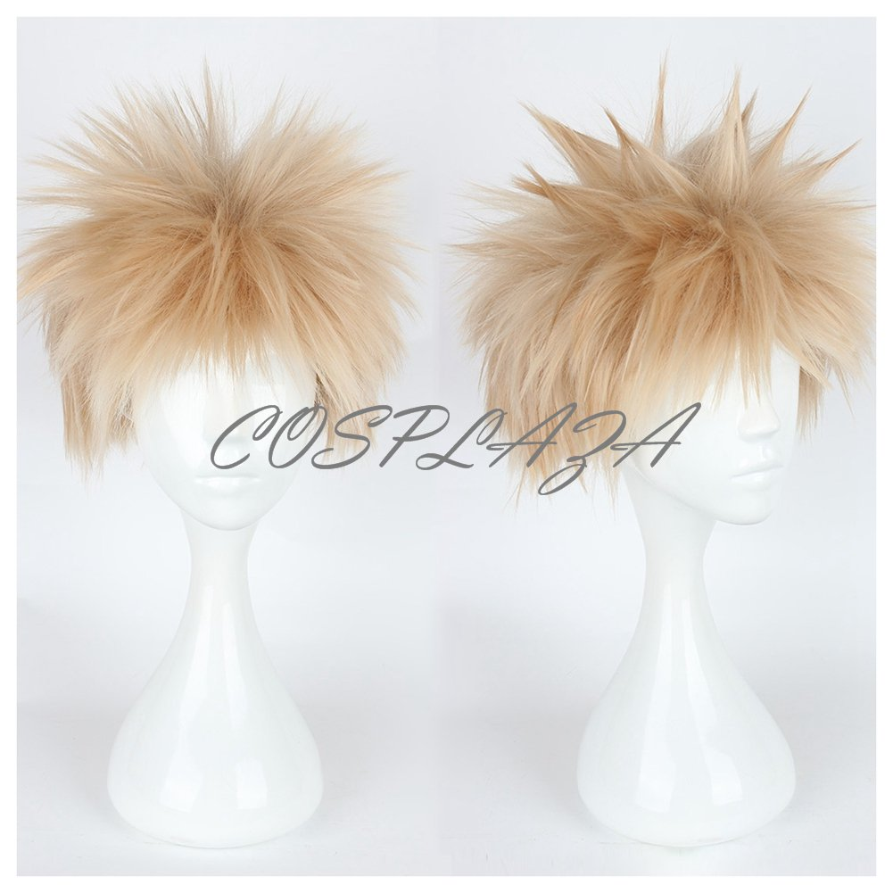 COSPLAZA Cosplay Wig Short Lt. Blonde Boy Anime Hair Synthetic Wigs