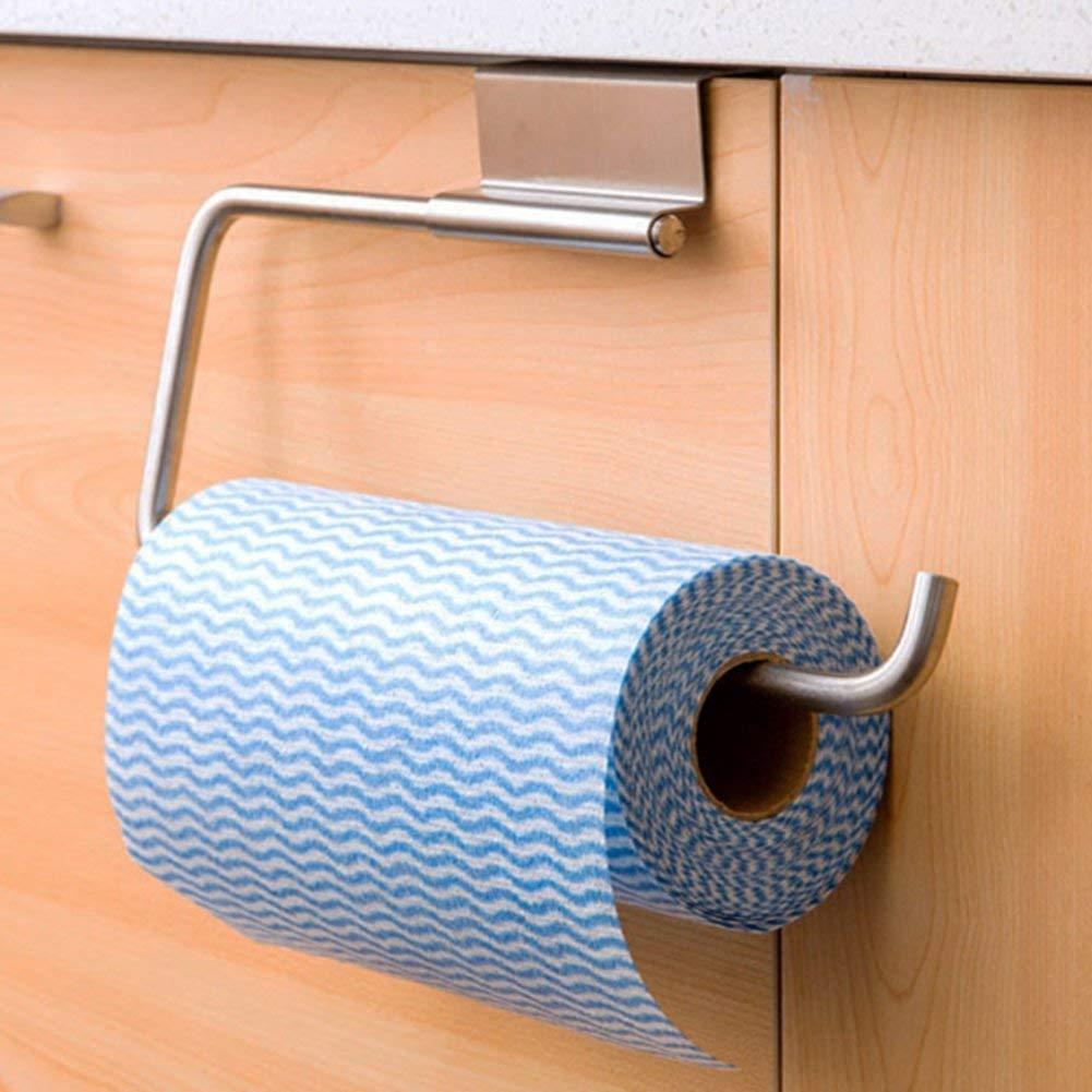 AHIMITSU Rollenpapier Kreative Edelstahl Küche Handtuchhalter/Tür