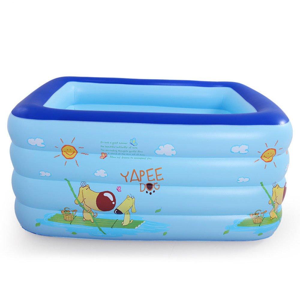 GEXING Infant Und Kinder Schwimmbad Baby Startseite Verdickung Eigenschaften Badewanne Aufblasbare Schwimmen Eimer,Blue-120*102*80CMBasicPackage