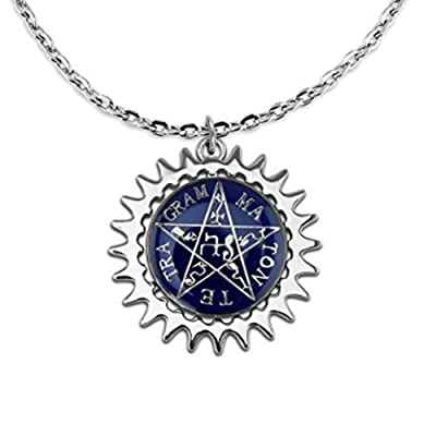 Aluckyday New Anime Black Butler Ciel Eye Blue Star Rotating Necklace Cosplay Pendant Ad007: Toys & Games