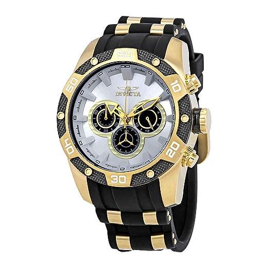Invicta Speedway Reloj de Hombre Cuarzo Correa de Poliuretano dial Plata 25834: Amazon.es: Relojes