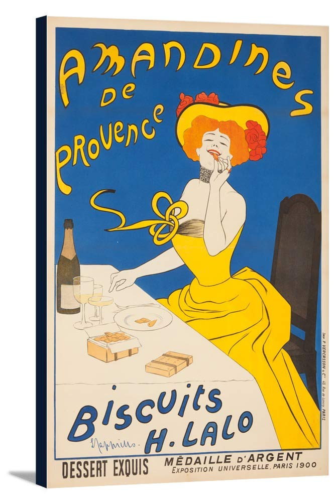 Amandines de Provence – Biscuits Hラロヴィンテージポスター(アーティスト: Leonetto CappielloフランスC。1900 24 x 36 Gallery Canvas LANT-3P-SC-60236-24x36 24 x 36 Gallery Canvas  B0184B581M