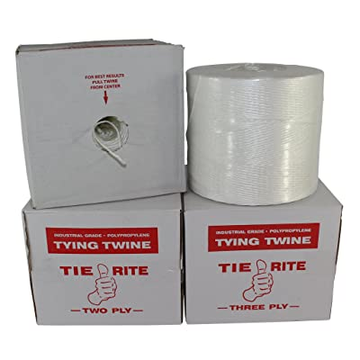 Polypropylene Tying Twine - SGT KNOTS Tie-Rite - 100% High-Grade Polypro Twine - Lightweight Utility Cord - for Crafting Projects, Tie-Down, Commercial Packaging & Bundling (2 ply - 3150 ft, White): Home Improvement