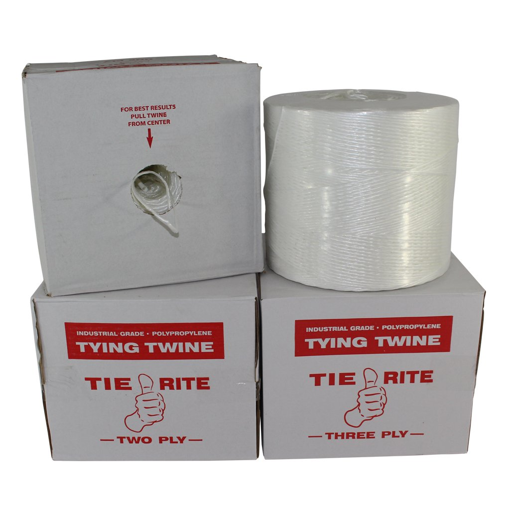 Polypropylene Tying Twine - SGT KNOTS Tie-Rite - 100% High-Grade Polypro Twine - Lightweight Utility Cord - for Crafting Projects, Tie-Down, Commercial Packaging & Bundling (3 ply - 2100 ft, White) by SGT KNOTS