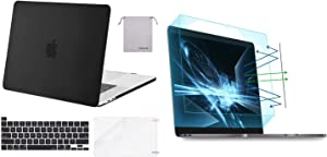 MOSISO MacBook Pro 16 inch Case 2019 Release A2141 with Touch Bar&Touch ID, Plastic Hard Case & 2 Pack Pro 16 inch Screen Protector Matte Laptop Blue Light Blocking Anti-UV Eye Protection Filter Film