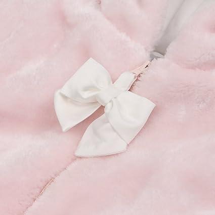 72e7572d9cde BOOPH Infant Baby Girls Winter Fleece Warm Bunting Pram Bowknot ...