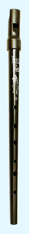 Clarke Pennywhistle TIN WHISTLE Stimmung D schwarz -- die beliebte Whistle vom Originalhersteller aus England mit Grifftabelle und Noten zu 4 Songs GEWA 700531