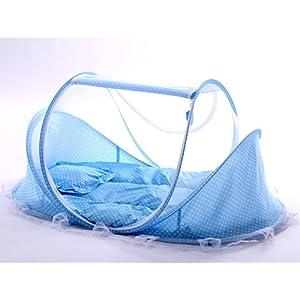 Sinotop bébé Mosquito DED Portable pour Voyager, lit bébé pliable Lit Bébé Moustiquaire Portable Lits de bébé pour 0–18 mois bébé (Rose)