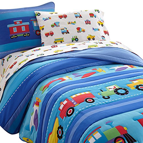 planes trains and trucks bedding - 2