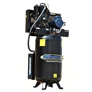5 HP Quiet Air Compressor, 1PH, 2-Stage, 80-Gallon