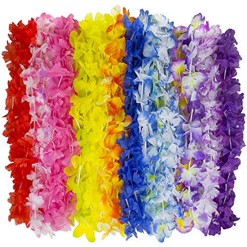 Kangaroo Jumbo Party Bag ~ Tropical Hawaiian Luau Lei Styles (50 ct) ~ Party Favors ()