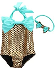 36ab28900b Das beste Little Girls Swimsuits for Girl one Piece Mermaid Princess  Toddler Bikini Swim Bathing Suit