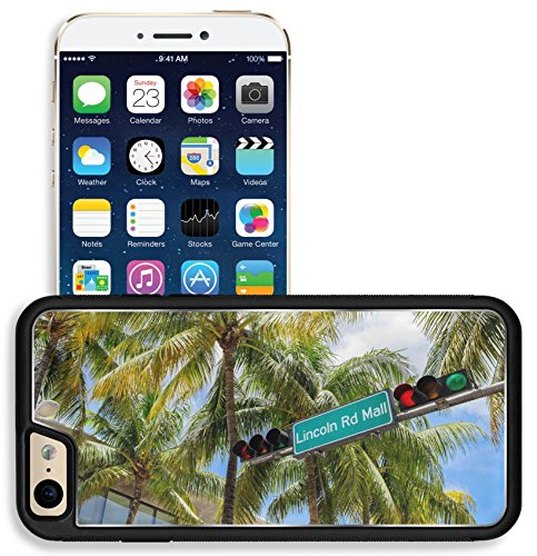 Liili Apple iPhone 6 iPhone 6S Aluminum Backplate Bumper Snap iphone6/6s Case Lincoln Road Mall street sign located in Miami Beach - Road Lincoln Mall