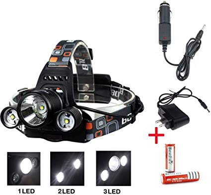Cree LED Flashlight Head Torch Work Light Night Fishing Camping USB Rechargeable