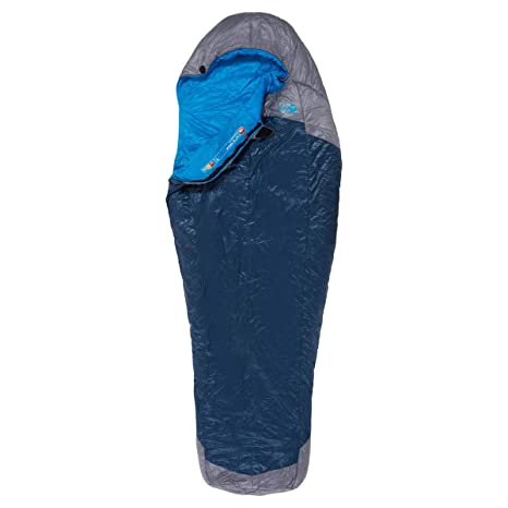 The North Face Kazoo Saco de Dormir, High Rise Grey/Hyper Blue, Long