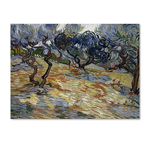 live Trees by Van Gogh, 35x47-Inch Canvas Wall Art ()