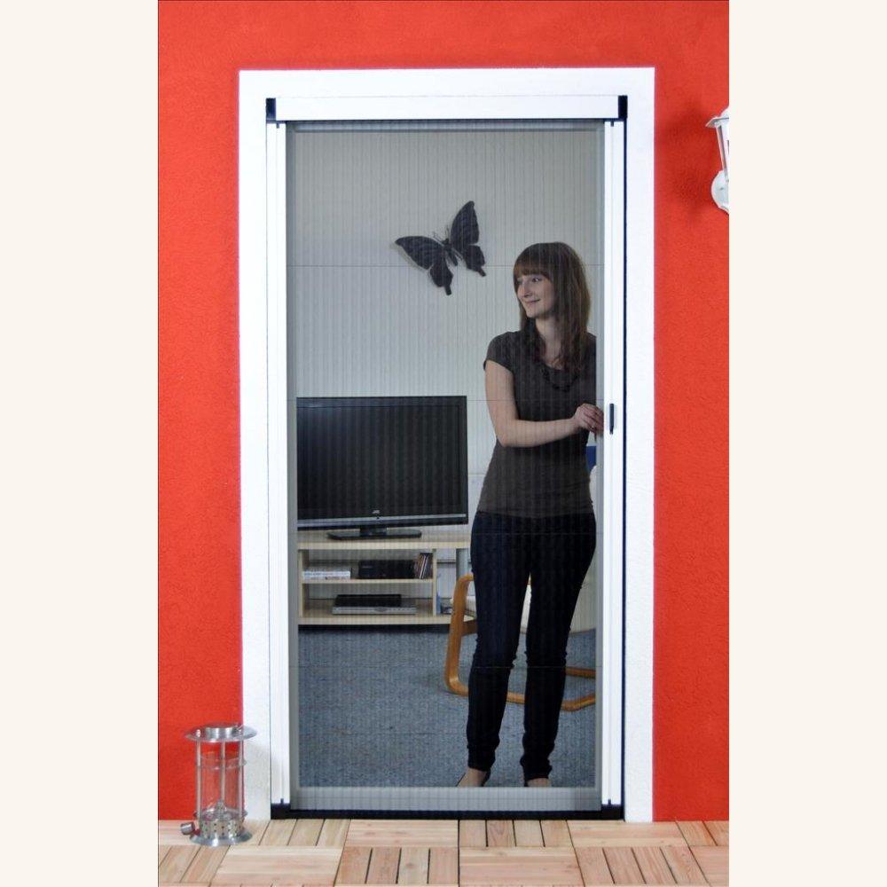 Großartig Luxus Fliegengitter Plissee für Tür als Alubausatz  KU92