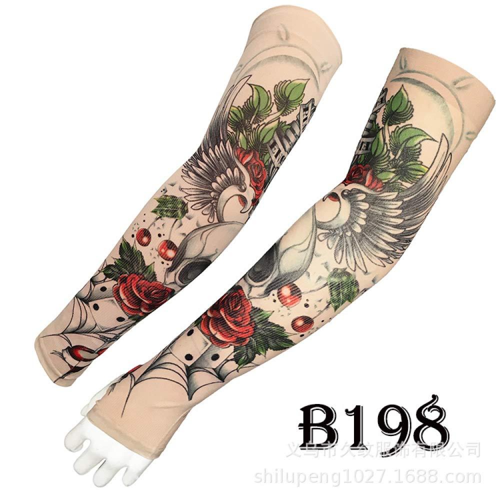 Manga de tatuaje para tatuaje Brazo de flor masculina Estampado ...
