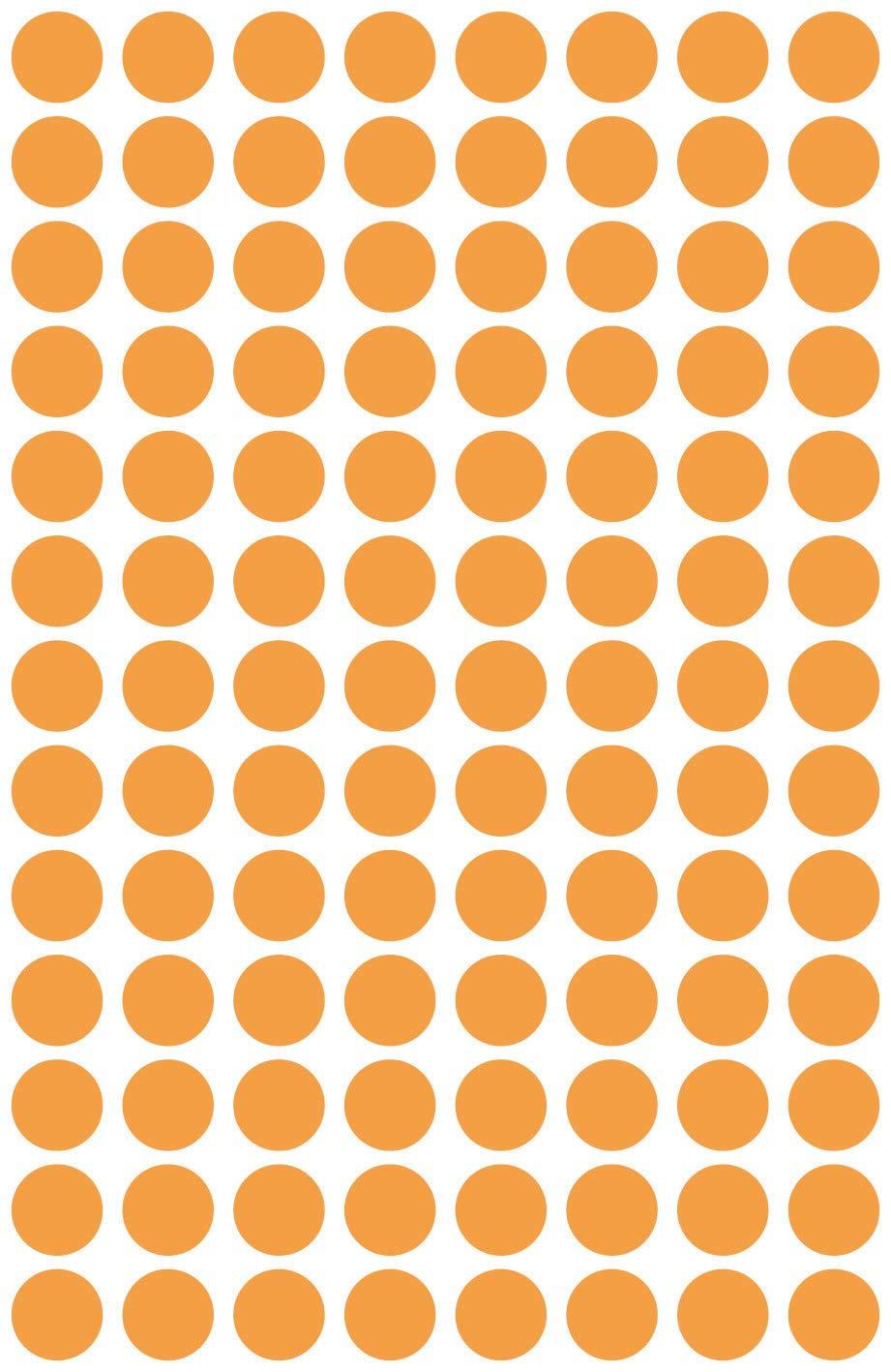 AVERY Zweckform 3013 selbstklebende Markierungspunkte /Ø 8 mm, 416 Klebepunkte auf 4 Bogen, runde Aufkleber f/ür Kalender, Planer und zum Basteln, Papier, matt gelb