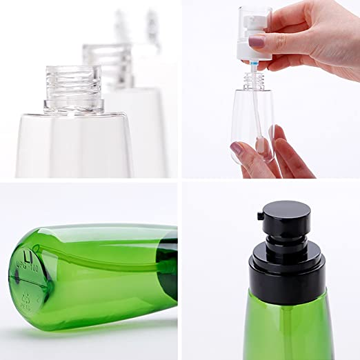 f1a8e77a114b Uviviu 2oz(60ml) UPG Soap and Lotion Dispenser,Empty Refillable Pump  Replacement Bottle for Travel (Clear)