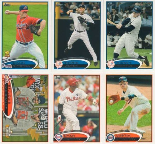 2014 Topps Series 1 Mantle - 2012 Topps Baseball Complete Mint Hand Collated 660 Card Set Complete M (Mint)