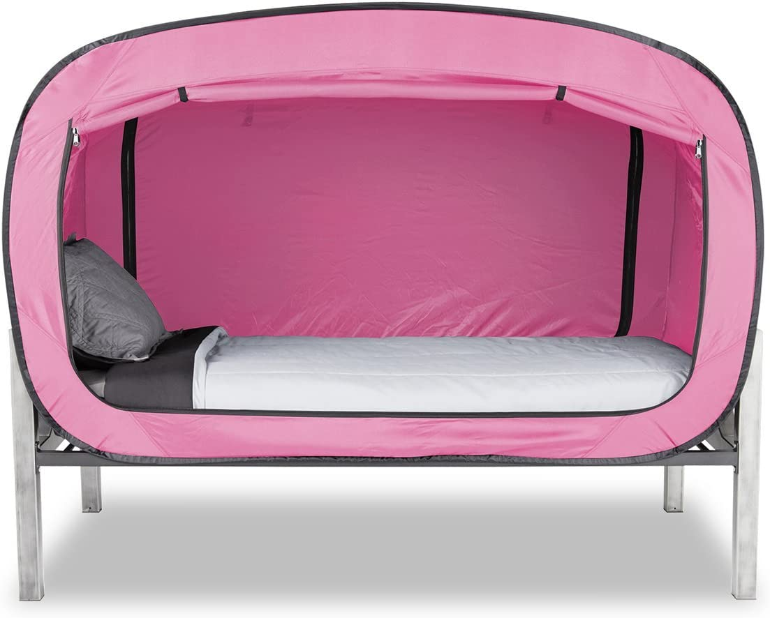 Privacy Pop Bed Tent (Twin) PINK