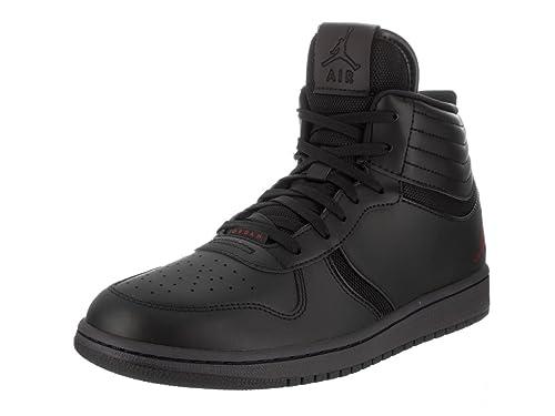 d92f3aeb09bbf Jordan Nike Men s Extra Fly Black Leather Basketball Shoes 10.5