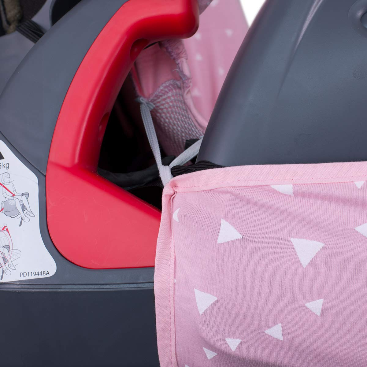 JANABEBE Janabeb/é Foam Cover Liner for Graco Nautilus Car Seat Protector Pink Sparkles