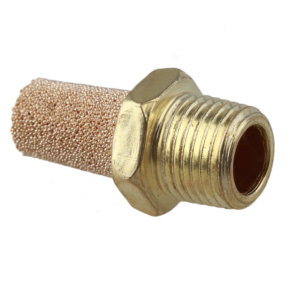 Mxfans 10pcs 1//8 BSPT Noise Filter Pneumatic Brass Silencer