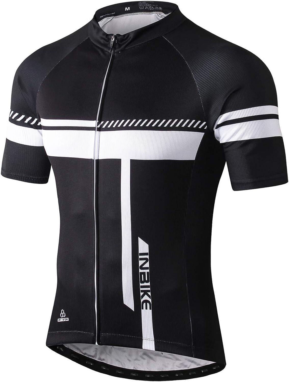 INBIKE Culotte Ciclismo Tirantes Hombre Pantalones Cortos MTB Badana Gel de Protección de Bicicleta Montaña