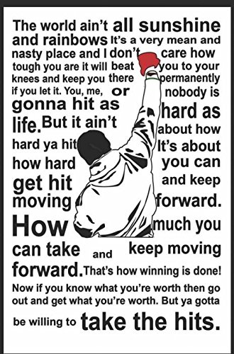 Get Motivation Poster Rocky Balboa Quote Poster Print 18 Inch X 12 Inch Rolled