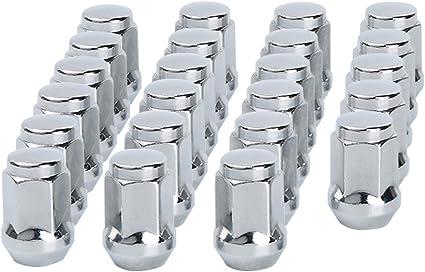 Dynofit 1//2-20 Chrome Wheel Lug Nuts 23pcs 1//2x20 Hex 60 Degree Steel Conical Lugnuts for Aftermarket Tuner Durango Journey Viper XJ KJ KK CJ Commander XK ZJ WJ WK Liberty TJ JK Explorer Fastfree