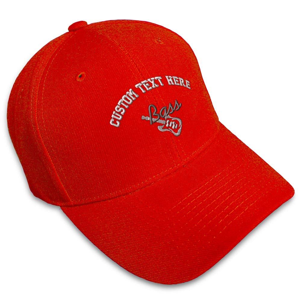 Custom Baseball Cap Bass Guitar Embroidery Acrylic Dad Hats for Men /& Women