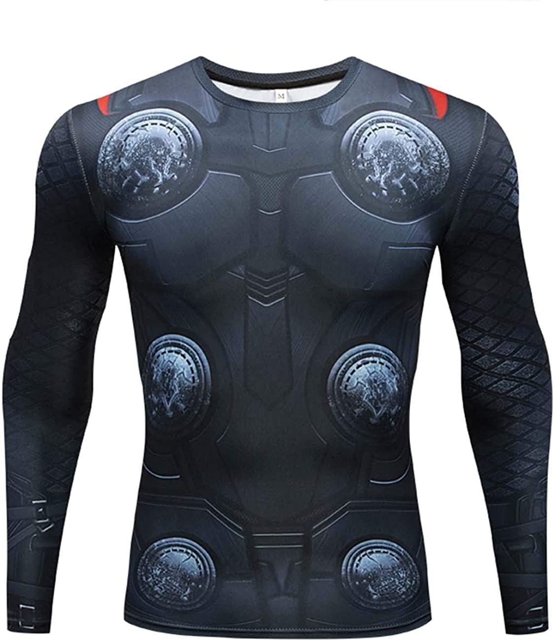 RONGANDHE Men's Super-Hero Compression Sports Fitness Adult T-Shirt Cool-Drying Running