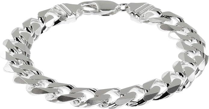 Silber Armband Armkette Panzerkette Massiv 8MM Herren Damen Schmuck Neu