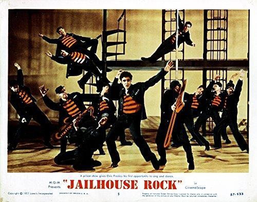 - Posterazzi EVCMSDJAROEC004H Jailhouse Rock Elvis Presley 1957 Movie Poster Masterprint 14 x 11
