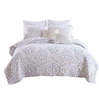 Patchwork Bedspread 3 Piece Quilt Comfort bed Throw Vintage Set Double//King size