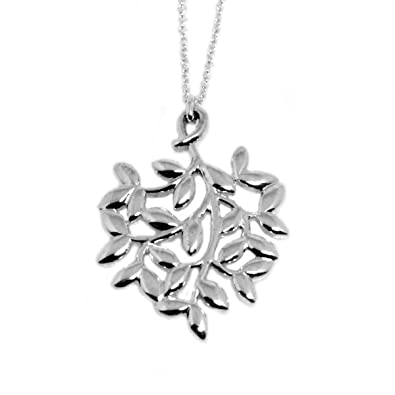 75438b5ce Tiffany Sterling Silver Paloma Picasso Olive Leaf Pendant Small 30143175:  Amazon.co.uk: Jewellery