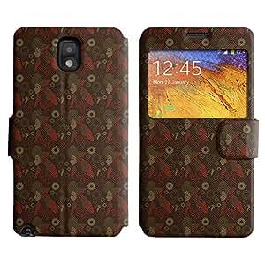 LEOCASE Funda Carcasa Cuero Tapa Case Para Samsung Galaxy Note 3 N9000 No.1007687