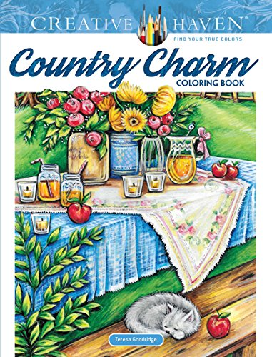 Creative Haven Country Charm Coloring Book (Creative Haven Coloring Books)