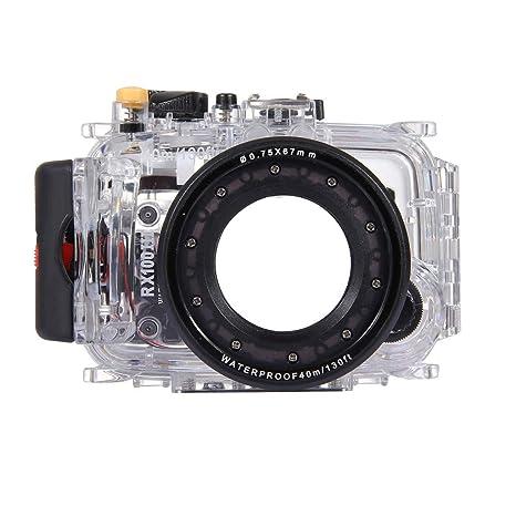 Stzonece - Carcasa Impermeable para cámara de Buceo Sony ...