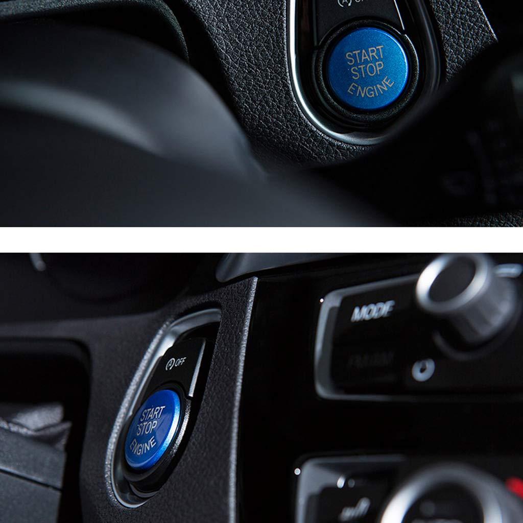 IPOTCH Tapa Cubierta de Bot/ón de Inicio de Parada de Motor de Coche Automotrices Color Rojo//Azul // Negro Seleccionable Negro