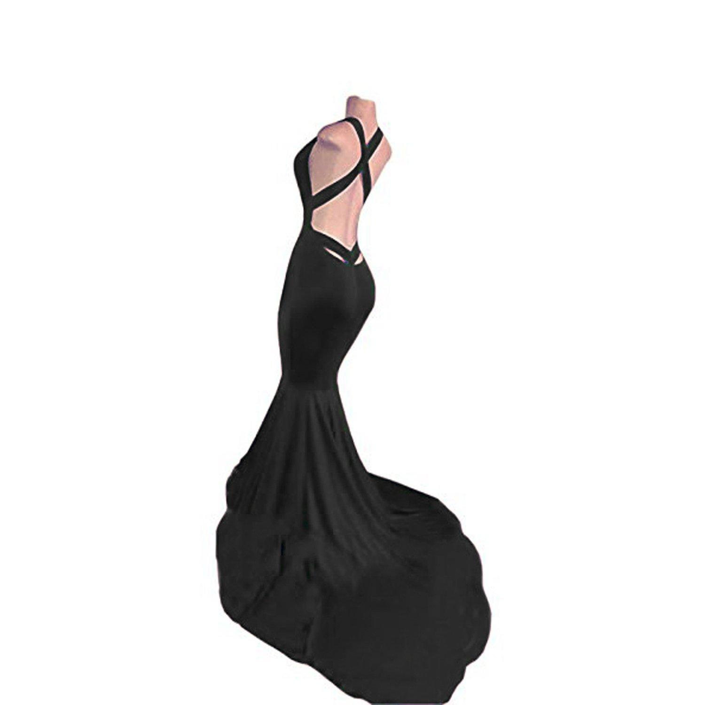 3bab564daf4 KapokBanyan Women s Sexy Backless Mermaid Prom Dresses 2018 Long Evening  Gowns Summer Dress at Amazon Women s Clothing store