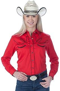 24d7a345430 Womens Cotton Retro Western Cowboy Shirt-Royal-Small at Amazon ...