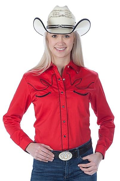 74f640bc Western Express Women's Cotton Retro Cow Shirt