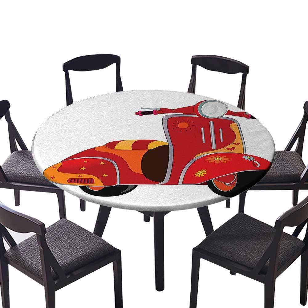 モダン シンプル ラウンド テーブルクロス さまざまな女性のリップフォーム いくつかのジェスチャー セクシー サッド 神経 ハッピー 女性 レッド キッチン (エラスティック エッジ) 47.5