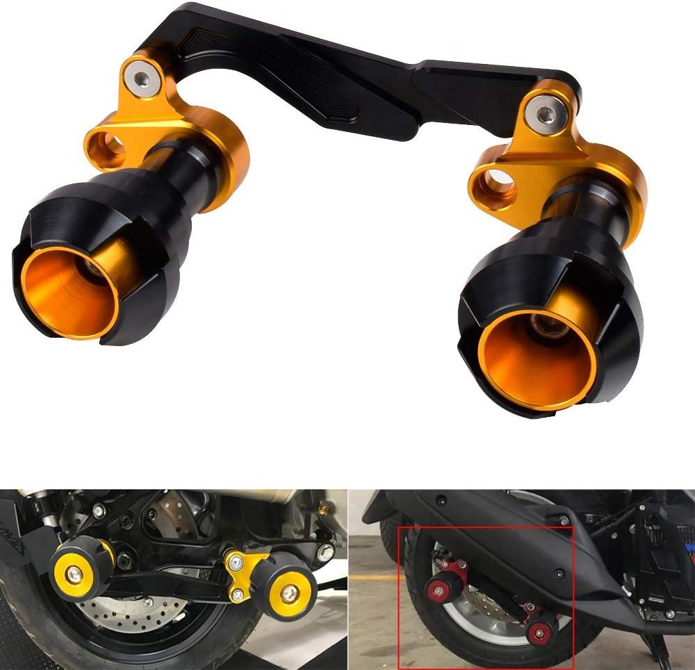 NVX NMAX 125 150 155 KYN for Yamaha Xmax 125 250 300 400 L125 L155 L150 Forza 125 250 300 CNC Aluminum Rear Muffler Wheel Slider Crash Protector Slider Black Aerox155 PCX125 PCX150
