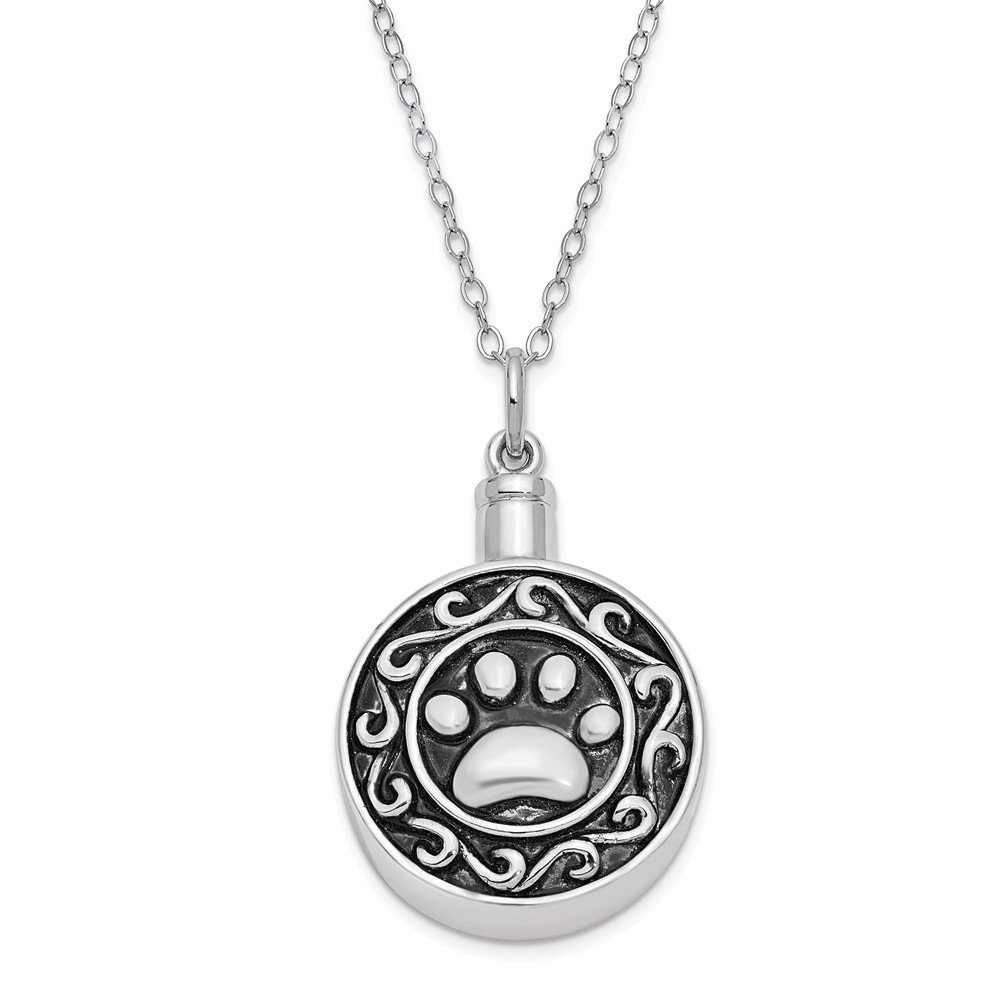 Diamond2deal Argent Sterling 925Paw Frêne Support 18in Collier